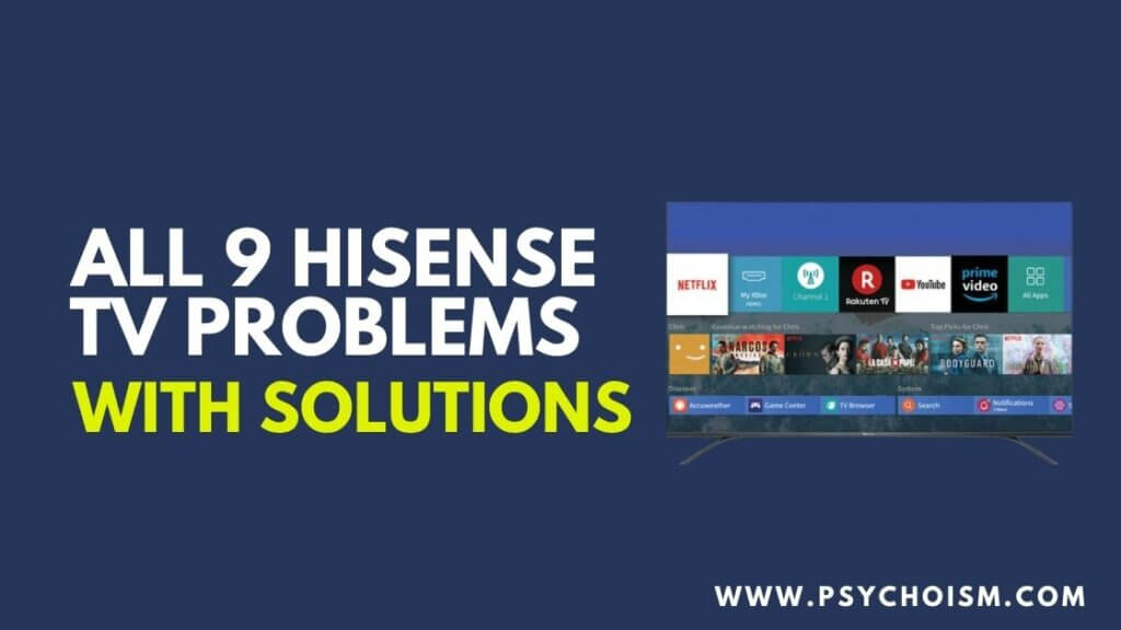 All 9 HiSense TV Problems and Solutions